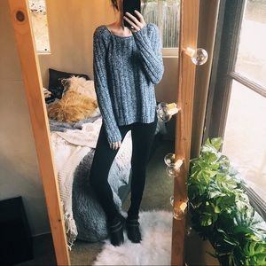 Gap Chunky Sweater Cable Knit Grunge Boho Baggy